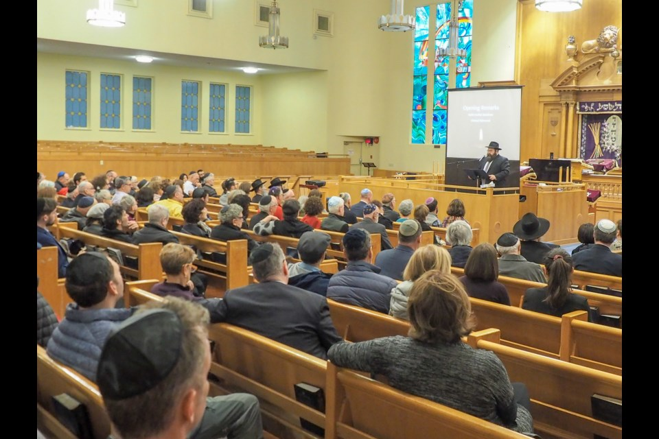 Jews from across the Lower Mainland gathered at Vancouver's Schara Tzedeck synagogue last week to remember the victims of the Poway shooting.