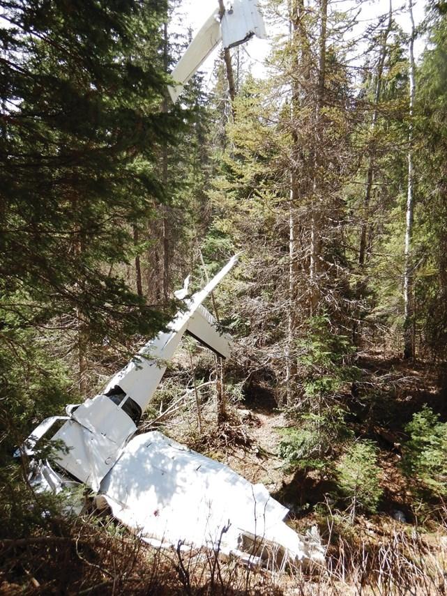 smithers plane crash wreckage