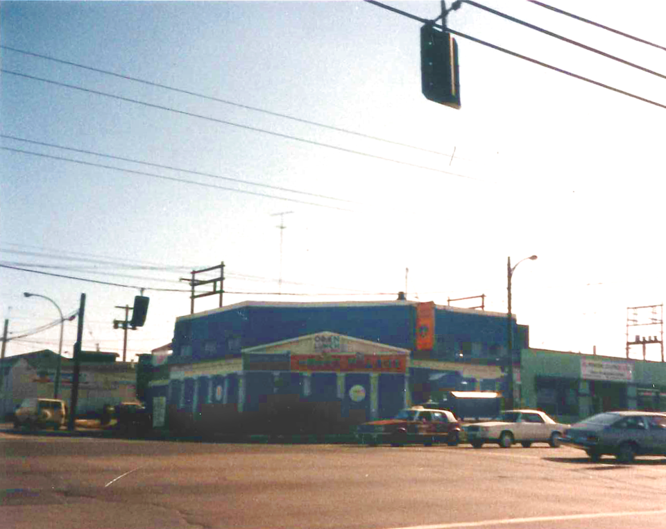 This photo of the Greek Village at Clark and East Hastings was taken sometime in the 1970s. Photo Co