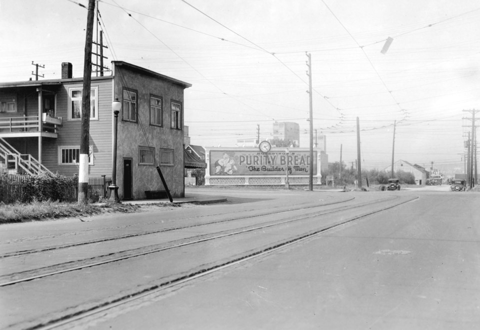 East Hastings and Clark in 1932. Photo City of Vancouver Archives CVA 20-56