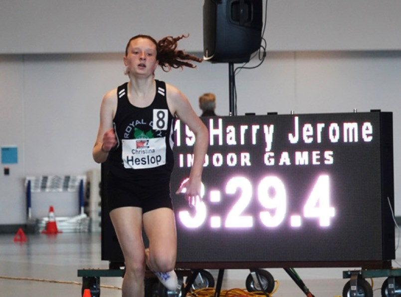 Burnaby Central finished with the aggregate team title at the Burnaby-New West district track and field championships earlier this month, thanks to the results from athletes like Christina Heslop, who took gold in the senior girls 1500- and 3000-metre races and 1500m steeplechase.
