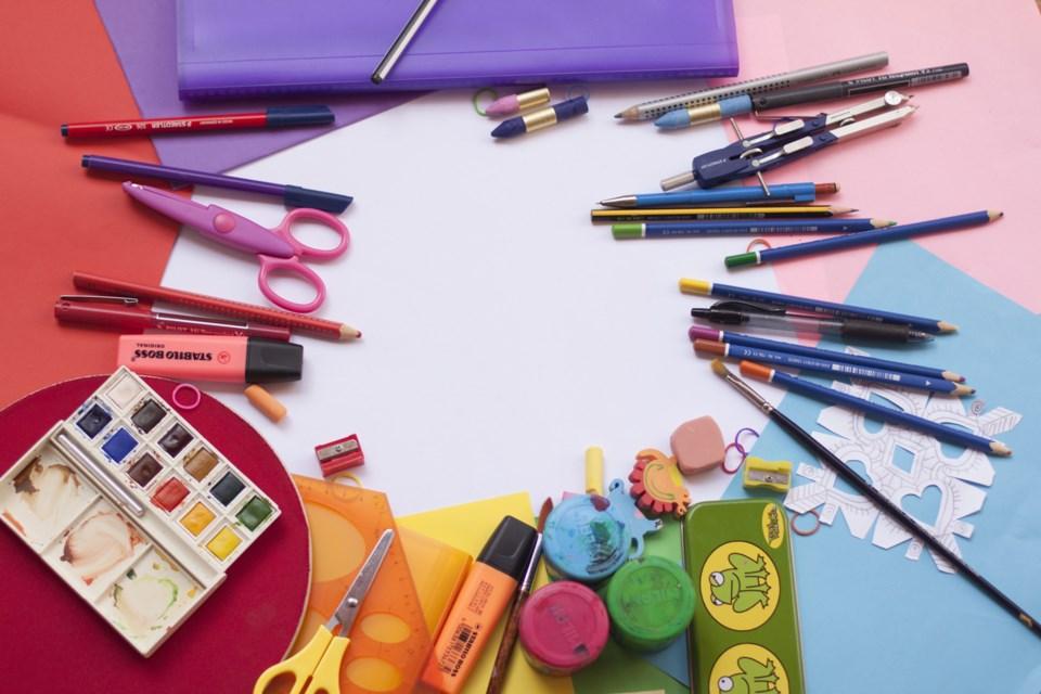 craft supplies, art, stock photo