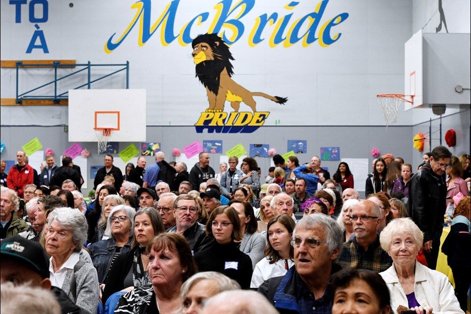The gym was packed with alumni and community members when Richard McBride Elementary School celebrated its 90th anniversary on Saturday.