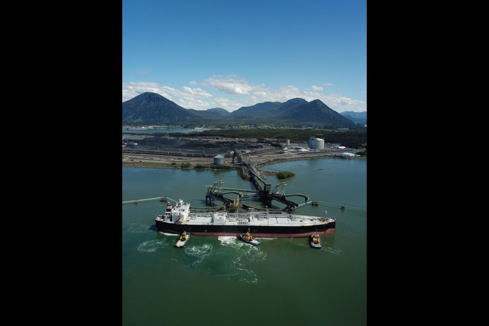 Sumire Gas, the first VLGC to depart RIPET, arrives at the Ridley Island Propane Export Terminal (RIPET).