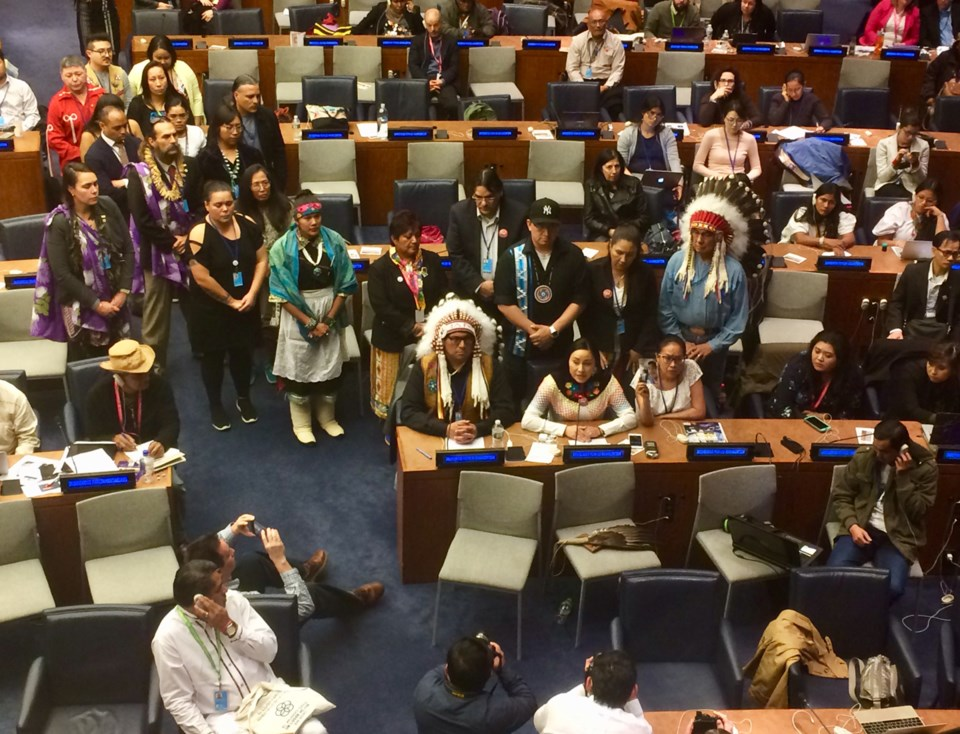 Jade Tootoosis addresses UN