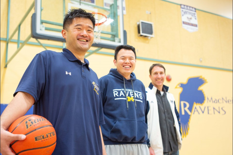 Steward Siy's longtime passion for high school basketball is making a difference at MacNeill secondary. Siy was recently honoured among the Nova Star Awards at the Volunteers Are Stars event for the Richmond Cares, Richmond Gives organization. Photo by Sean Hitrec