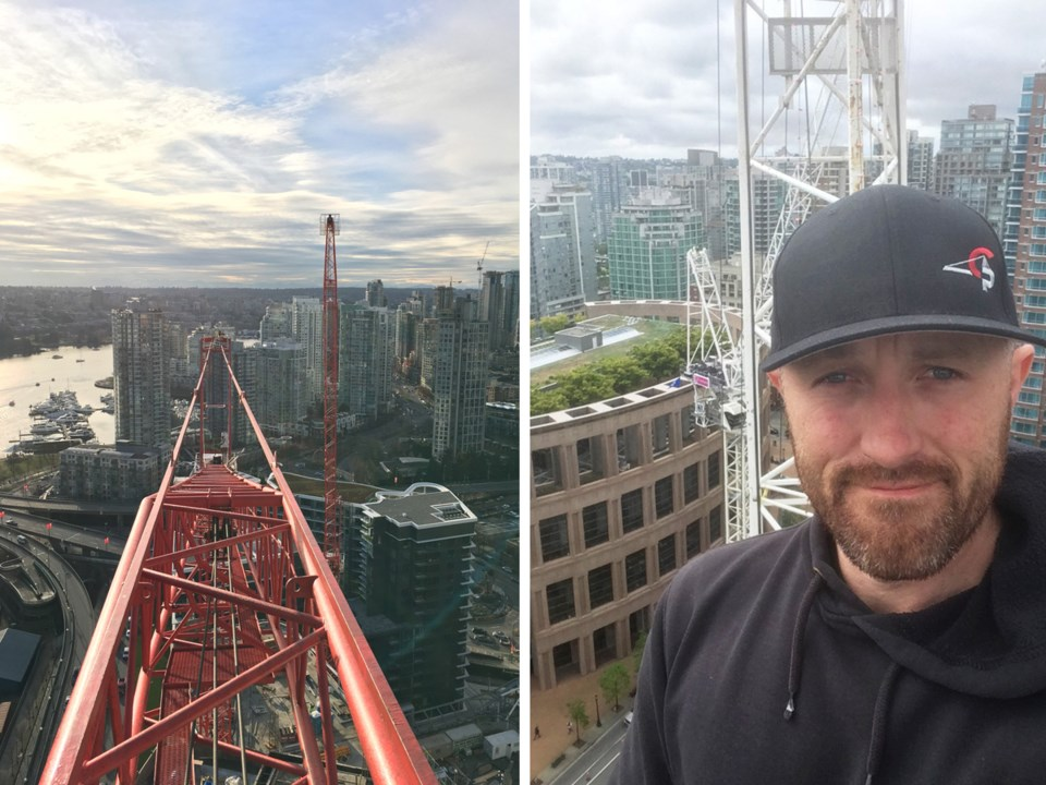 "Crane operator Ryan Clancy: ""The first time I ran one of these, I climbed down, and it felt like I w"