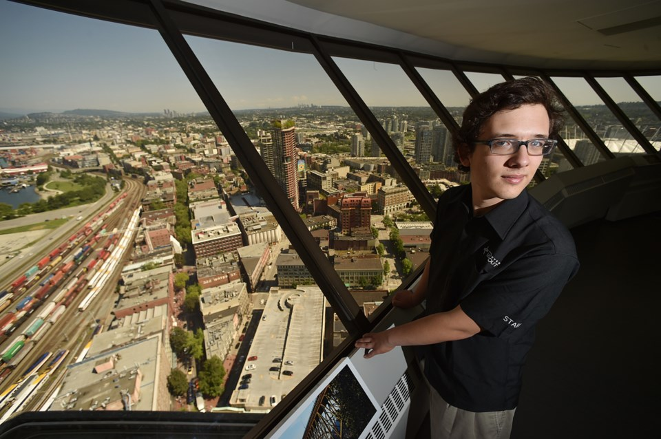 Jake McGrail is spending his summer atop Harbour Centre, working as a guest experience ambassador