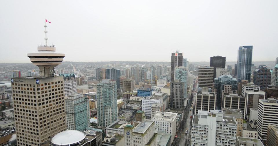 A view of Harbour Centre looking south. Photo Dan Toulgoet