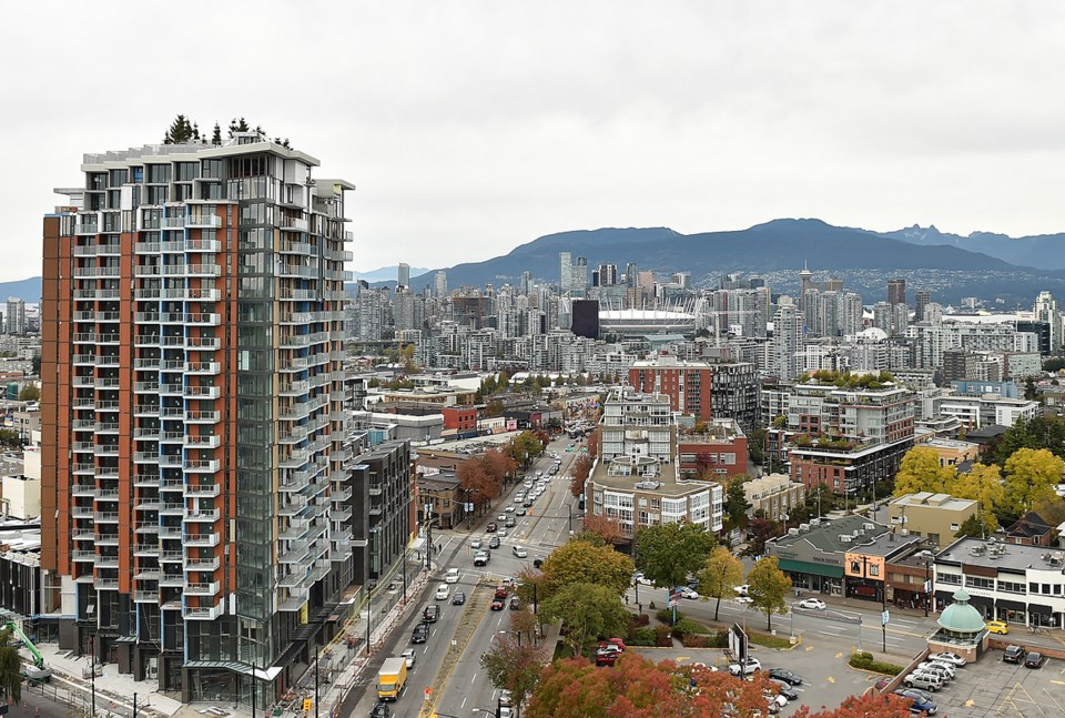 Looking north from Kingsway and East 10th Avenue. Photo Dan Toulgoet