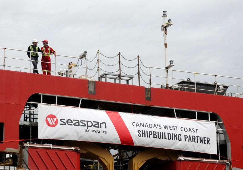 Coast Guard ship launch_7