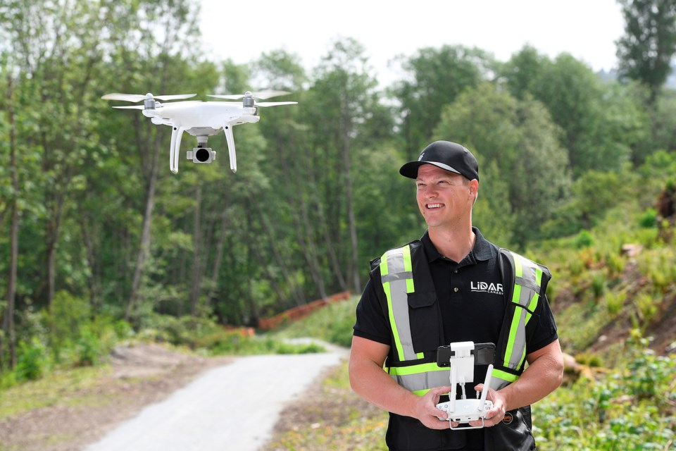 Jon Ross shoots drone footage for the tourism industry, the film and television industry, live event