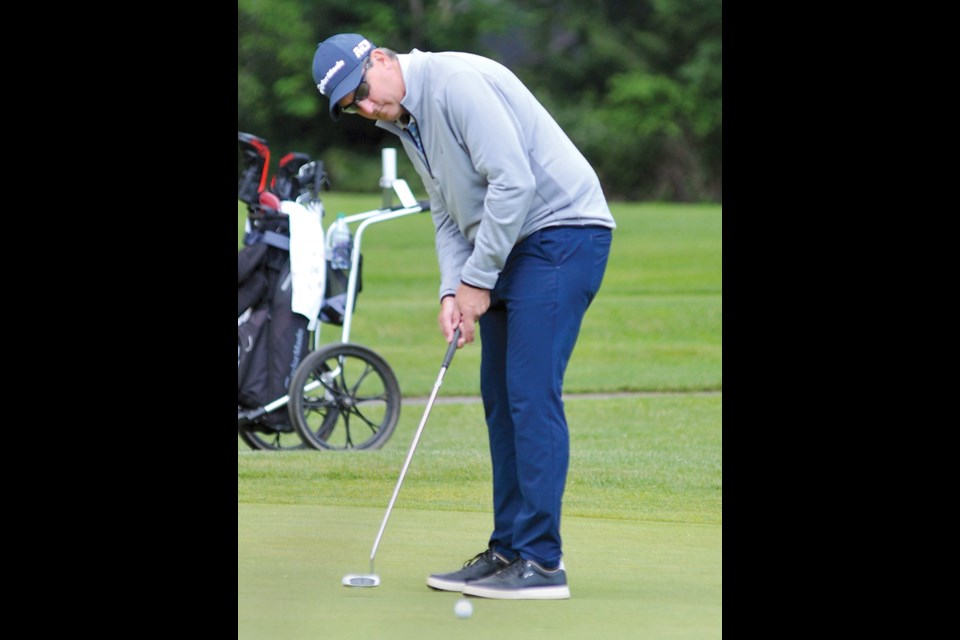 North Vancouver's Bryn Parry rolls a putt during the opening round of the PGA of BC Assistants' Championship Thursday at Seymour Golf and Country Club. photo Paul McGrath, North Shore News