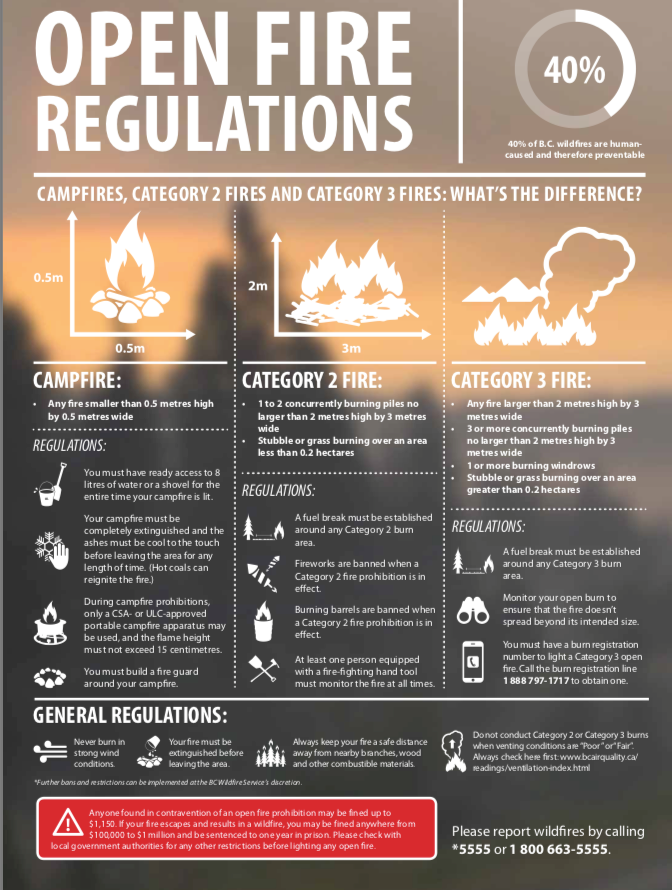 fire categories poster