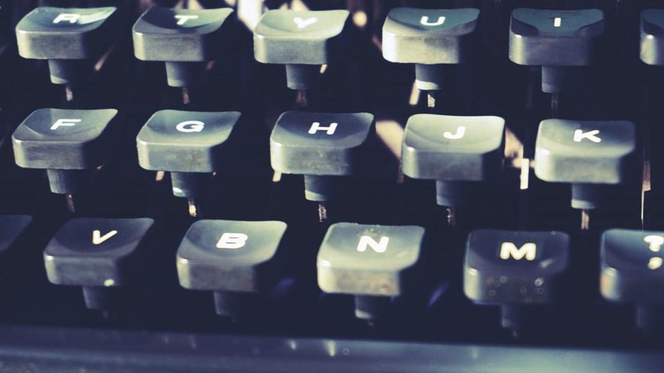 writers typewriter writer keys letters