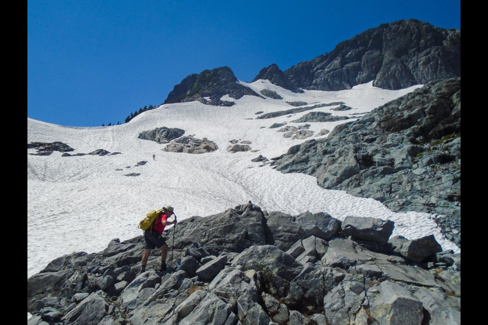 Chapman hiking in Golden Ears Park, an area he has mapped out extensively