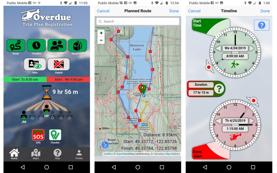 Chapman and Graham's app offers a safety net for skiers, hikers, mountaineers or even someone drivin