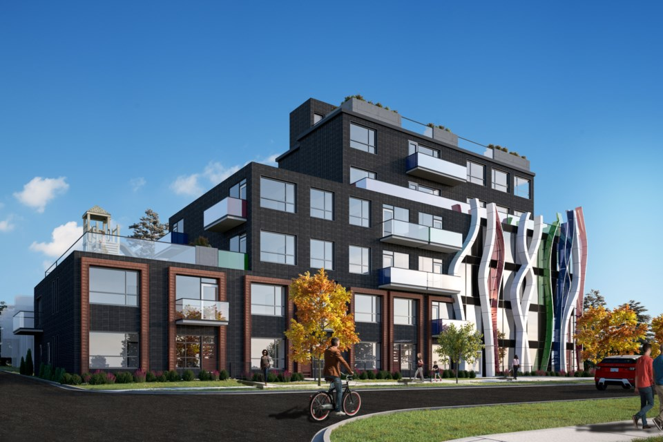 Building proposed for 486 West 26th Ave. Rendering courtesy of Billard Architecture