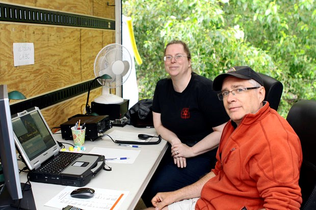 Delta Amateur Radio Society members were at North 40 dog park in East Ladner last weekend for their annual Field Day.