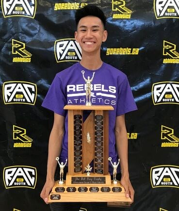 Cameron Fung was named the Bill Gray Award for Outstanding Grade 12 Male, having competed in five sports as well as a mentor and a coach at Burnaby South.