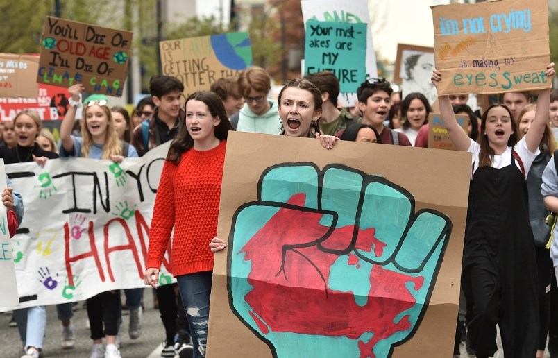Hundreds of students from across the Lower Mainland took to the streets of downtown Vancouver May 3,