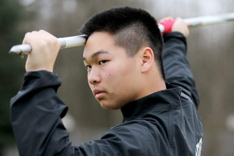 Royal City track and field's Jarrett Chong is part of a large recruiting class for SFU's track and field team.