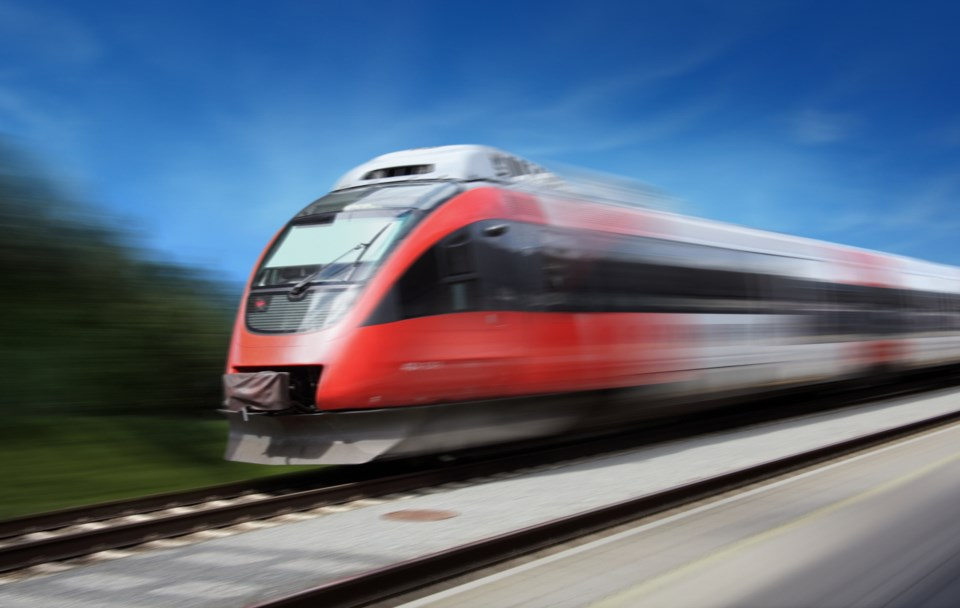 The ultra-high-speed system would travel at speeds of more than 320 kilometres per hour. Photo iStoc