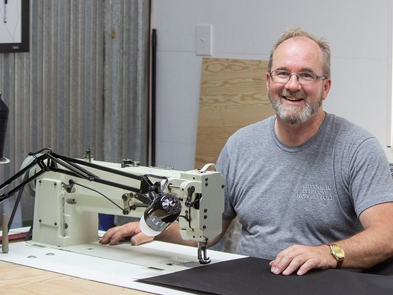 Valley Marine upholstery craftsman Gordon Kerr