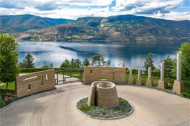 Kelowna lakefront mansion private drive