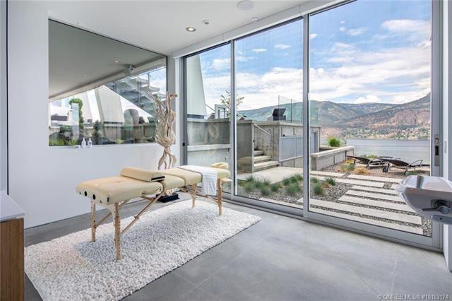 Kelowna lakefront mansion massage yoga room