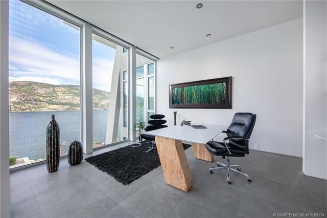 Kelowna lakefront mansion office