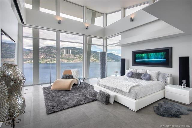 Kelowna lakefront mansion master bedroom