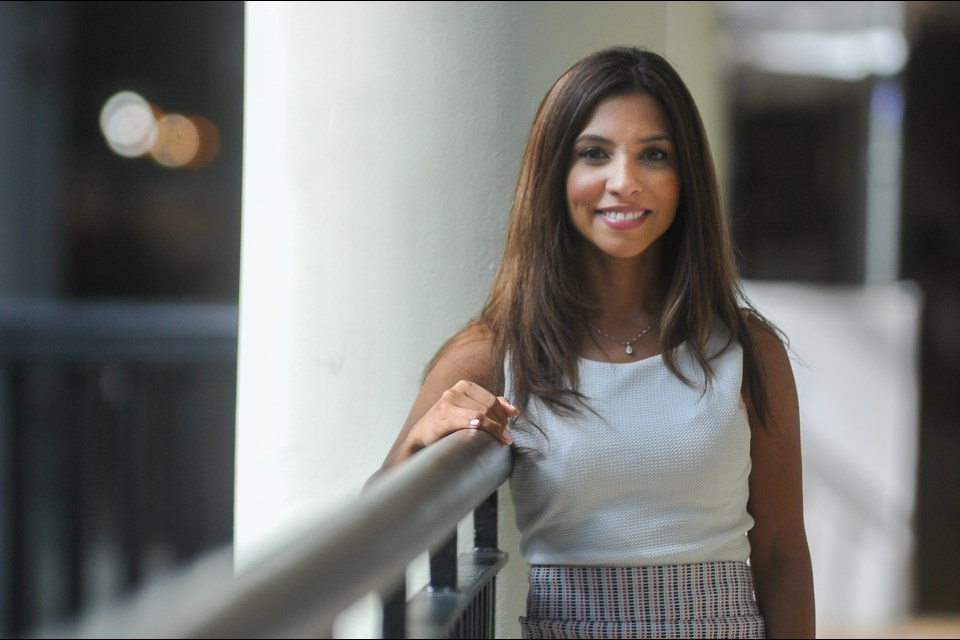 Tiana Sharifi at Lougheed Mall, a hub she says online predators use to try to meet young boys and girls face-to-face