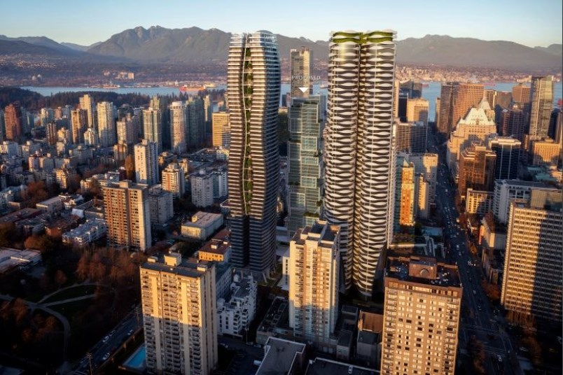 An image of the building Henson Developments is proposing for 1059 to 1075 Nelson St. near Thurlow S