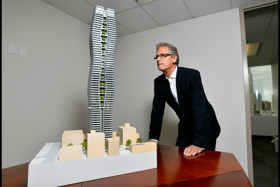 """Rick Gregory, vice-president of Henson Developments, said the company's team is working """"very co-operatively"""" with city of Vancouver staff on the plans. Photo Jennifer Gauthier"""