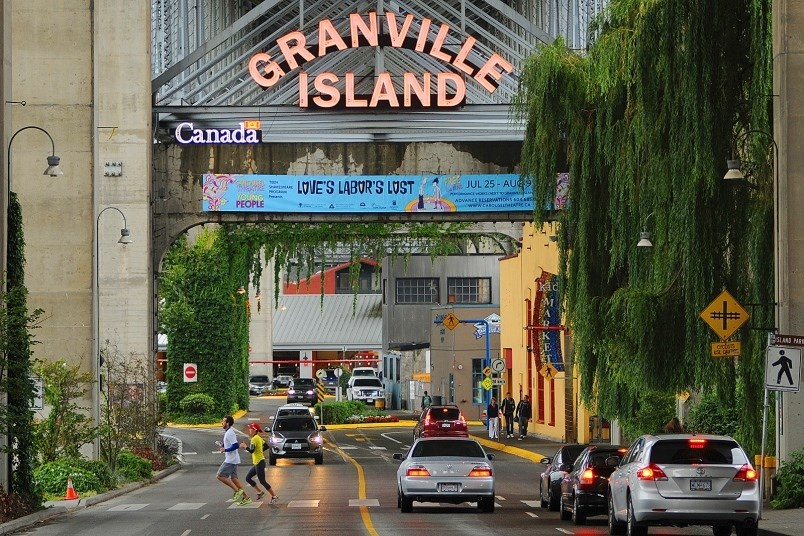 Granville Island, which is really a peninsula underneath Granville Bridge, was created in 1972, when