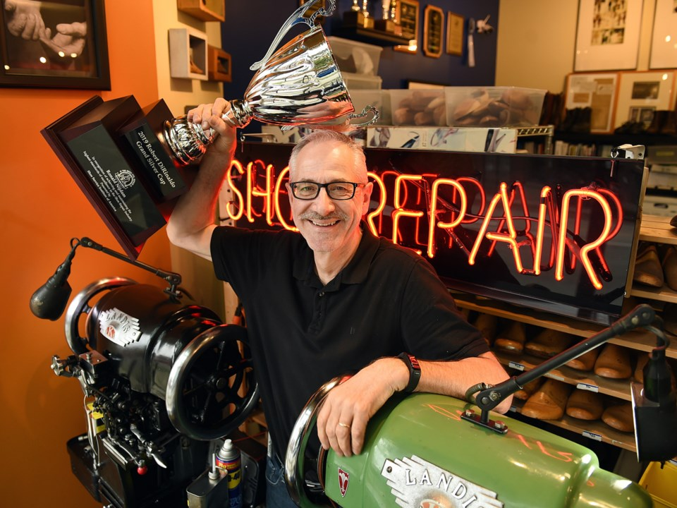 Ronald Nijdam, owner of Quick Cobbler Shoe Repair, took home the top prize at this year's Shoe Servi