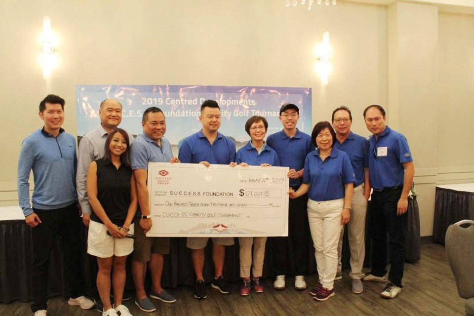 The SUCCESS Foundation charity golf tournament in Richmond raised $127,000 to helping immigrants to the region. More than 100 golfers participated in last week's event at Mayfair Lakes Golf & Country Club, with each golfer paying $500 to play, with all proceeds going to S.U.C.C.E.S.S. to help maintain and enhance services. Photo submitted
