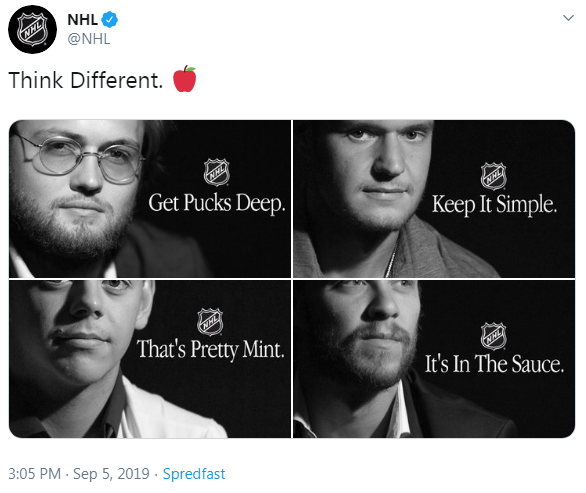 NHL Apple Think Different Tweet
