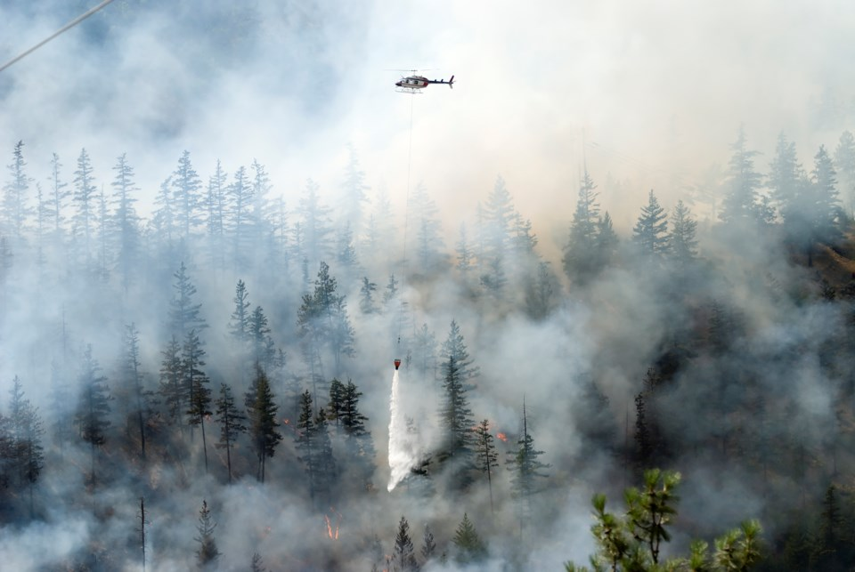 The carbon emissions produced by wildfires in B.C. in 2017 was 2.5 times more than what the province