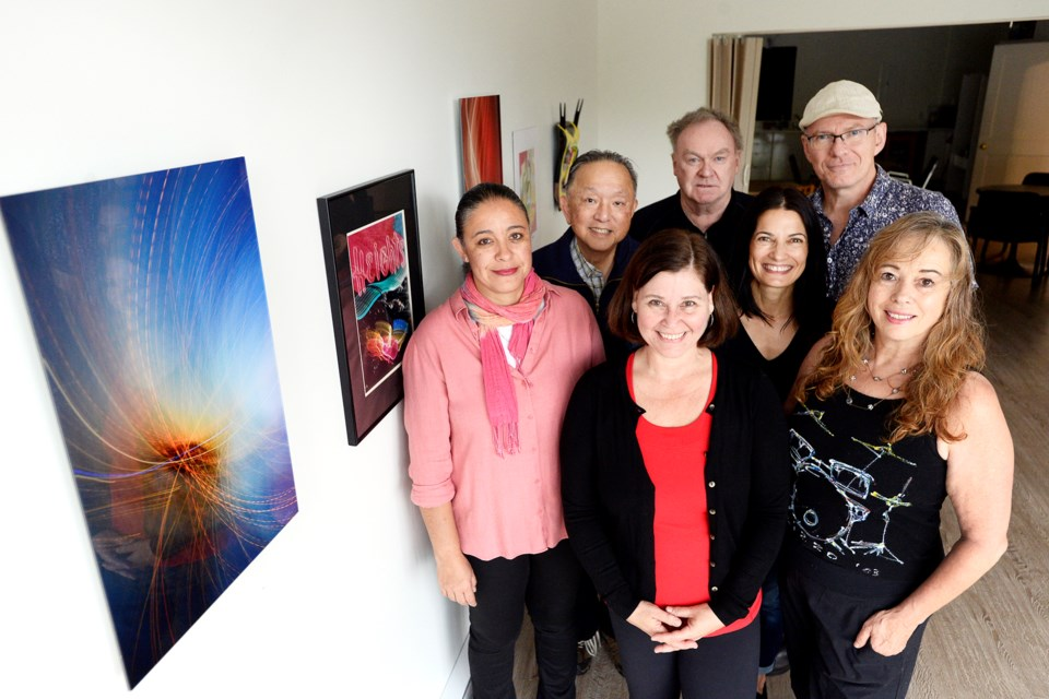 Yunuen Perez Vertti, Doug Soon, Simone Brandl, Bill Thomson, Nadia Dispirito, Grant Withers and Carolyn Sullivan are inviting everyone out to the inaugural Art Crawl Burnaby Heights, Sept. 27 and 28.