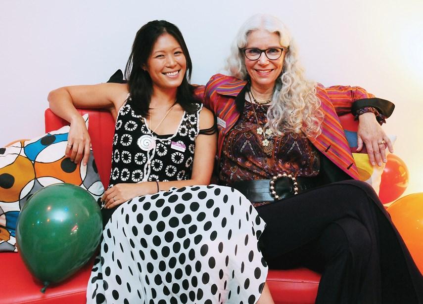 MLA Bowinn Ma with North Van Arts executive director Nancy Cottingham Powell.