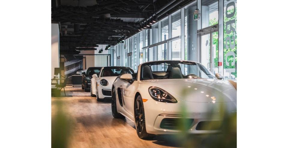 Porsche pop-up
