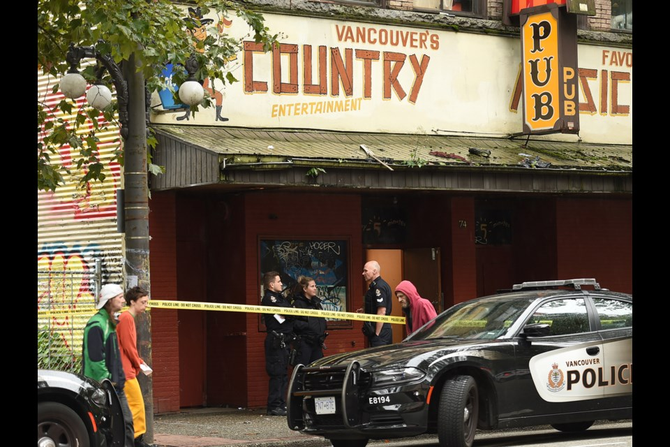 There were three shootings in the DTES in the last 24 hours, the last one being at the Grand Union Hotel at 74 West Hastings St. Monday morning.