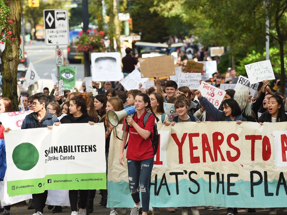 "Last week, students staged a ""climate strike"" in Vancouver, with more planned for Sept. 27."