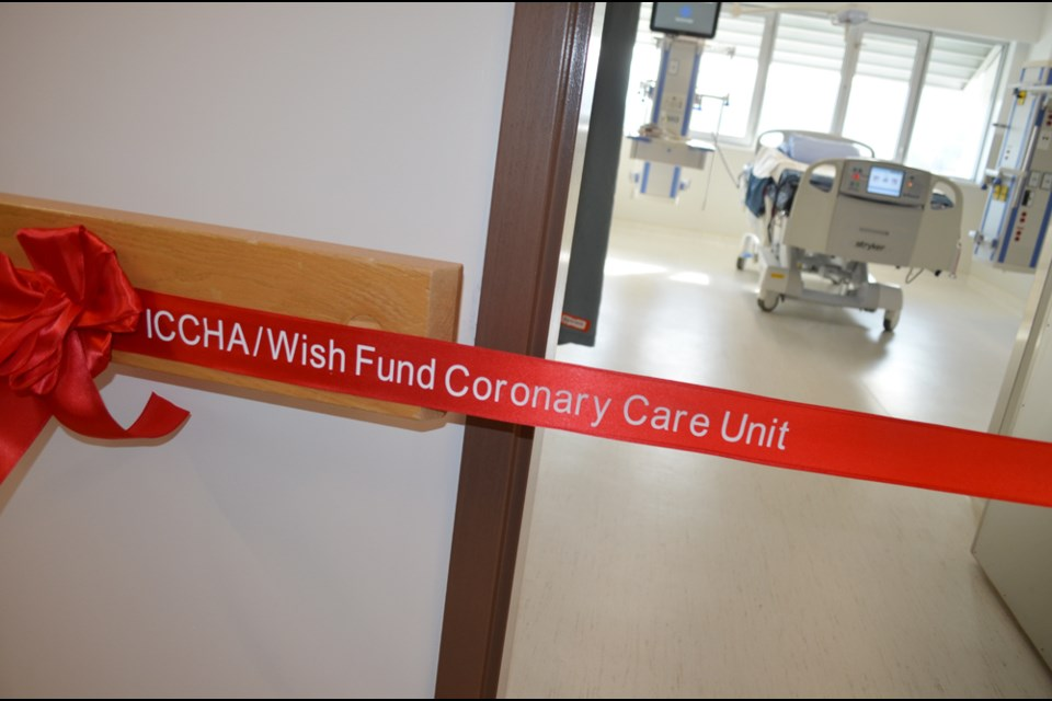 The ICCHA/Wish Fund Coronary Care Unit at Royal Inland Hospital is located on the seventh floor.