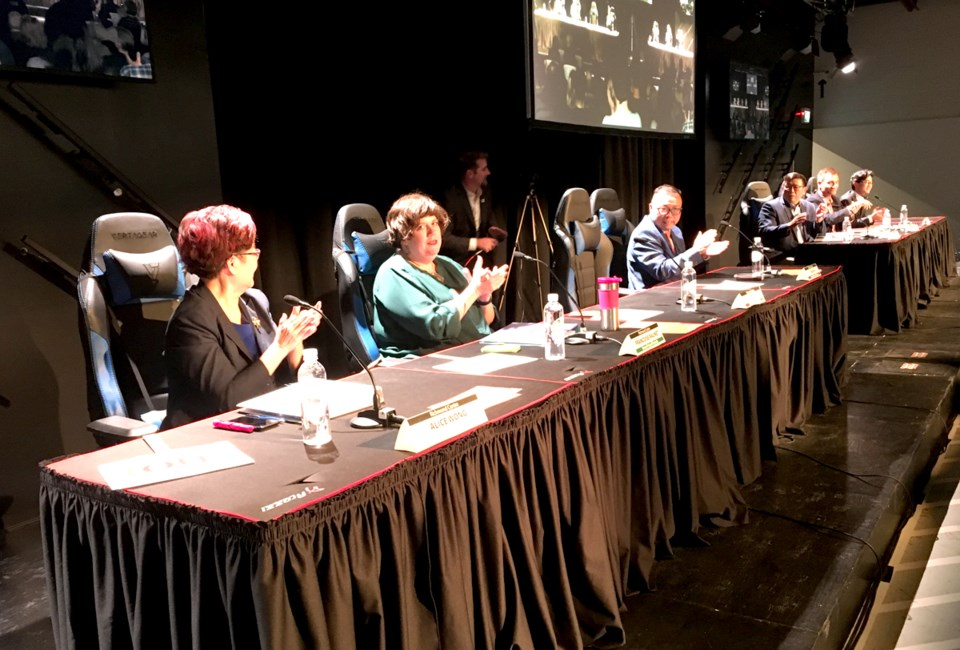 Richmond Chamber of Commerce hosted the first all-candidates meeting.