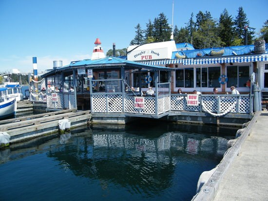 There's plenty of parking for your kayak at the Dingy Dock Pub. Photo contributed
