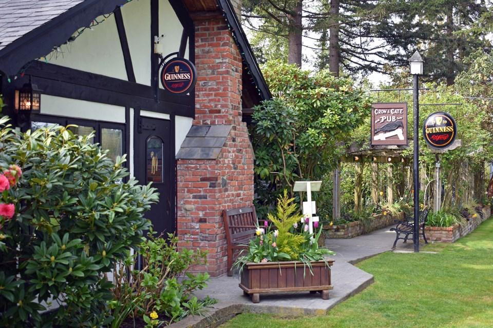 The Crow & Gate Pub near Nanaimo was the first neighbourhood pub in B.C. Photo Rob Mangelsdorf