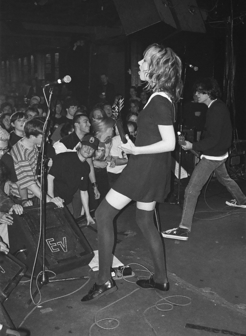 A shot of the Muffs playing a packed Starfish Room on March 21, 1996. Photo Paul Clarke